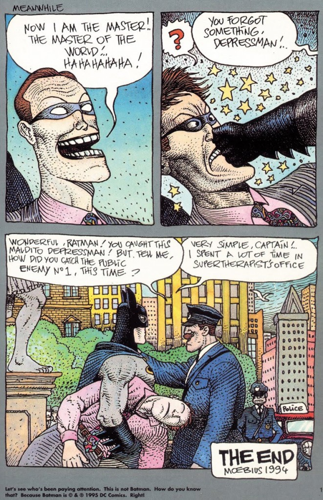 Not Batman by Moebius
