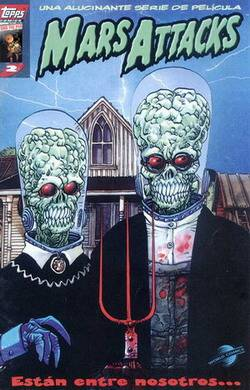 Cover for the Spanish Edition of Mars Attacks