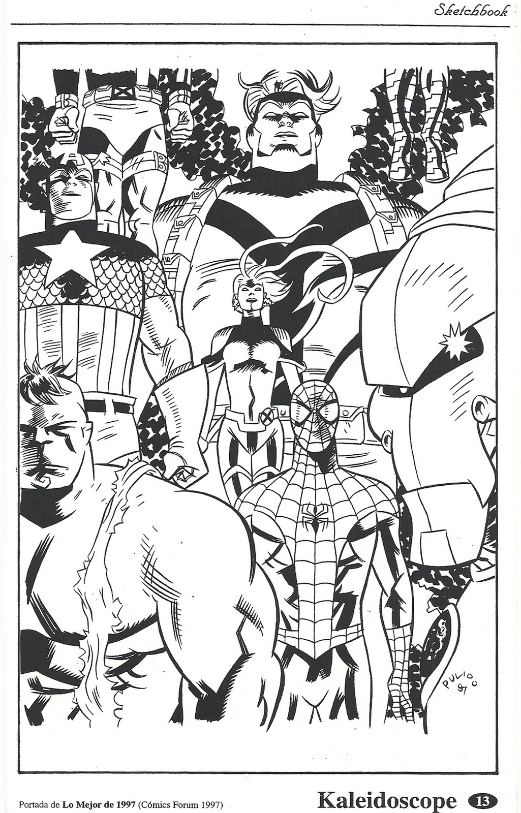 Onslaught cover for Comics Forum