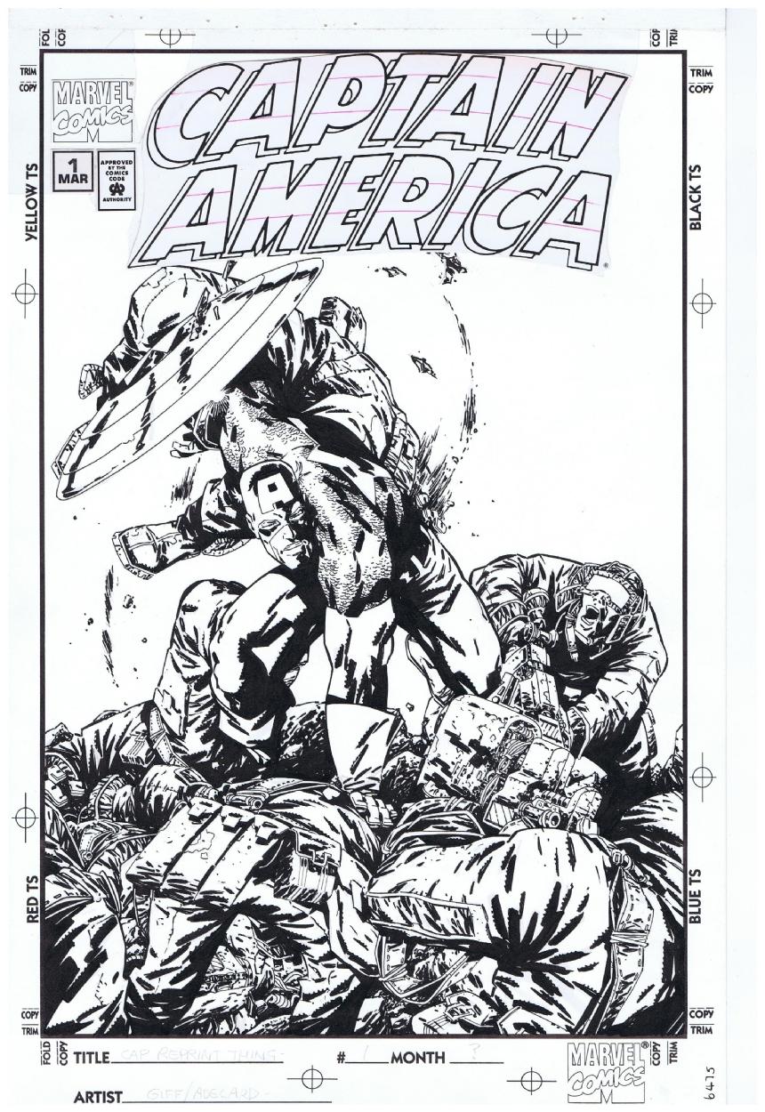 Captain America reprints unpublished cover